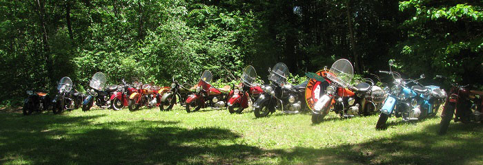 photo of AAIMC members motorcycles